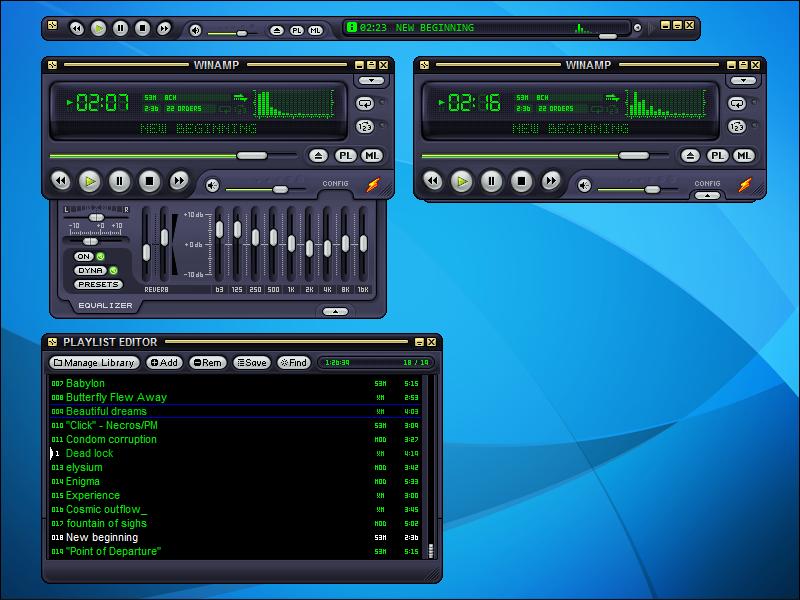 صورة من برنامج وين امب احدث اصدار winamp