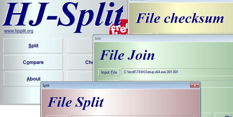 تحميل برنامج HJSplit تقسيم الملفات ، تجميع الملفات