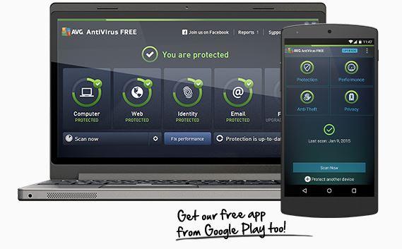 برنامج avg-antivirus للكمبيوتر ، للاندرويد ، للايفون ، للماك ، للتابليت