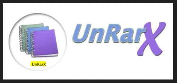 استخدام unrarx لاستخراج الملفات وضغطها
