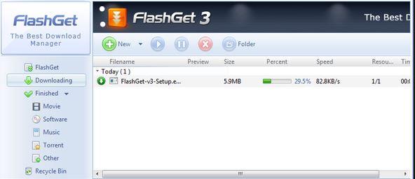 مميزات فلاش جيت للتحميل الاسرع flashget