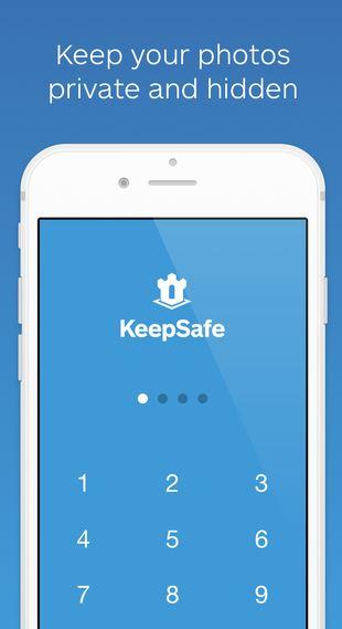 الخزنة تطبيق يعمل على ايفون واندرويد لاخفاء الصور واسمه keepsafe