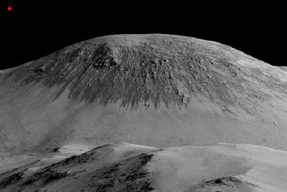 خطوط على المريخ بين وجود الماء تحت سطح mars