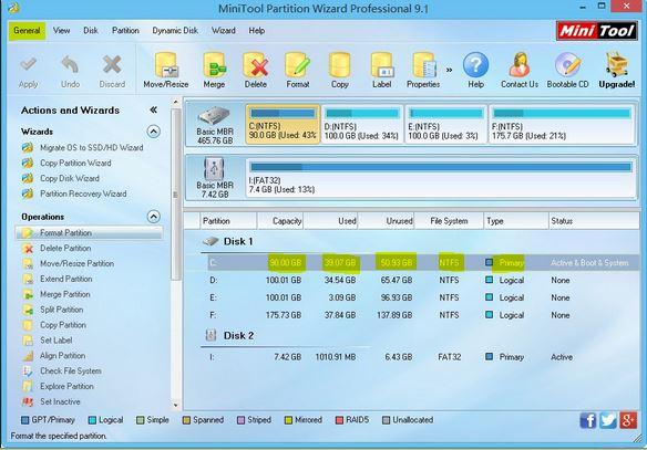 مميزات برنامج partition wizard بارتشن وزرد احدث اصدار