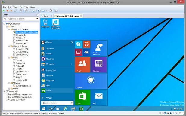 مميزات نظام vmware لعمل ويندوز وهمى