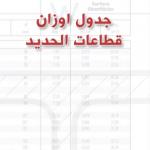 جدول اوزان قطاعات الحديد pdf التسليح والكمر بأنواعه